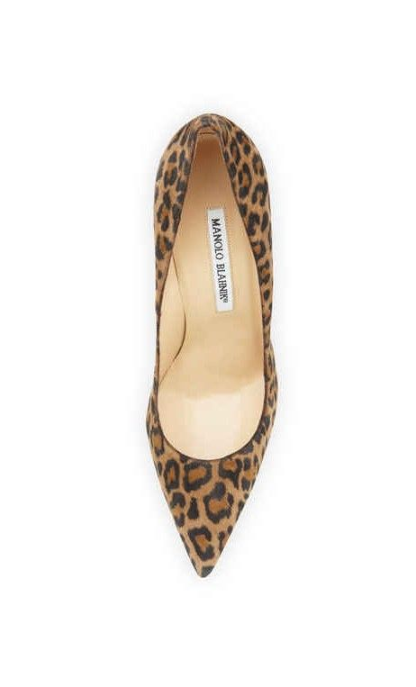 Manolo Blahnik BB Leopard-Print Suede 105mm #Pump Leopard #sexy