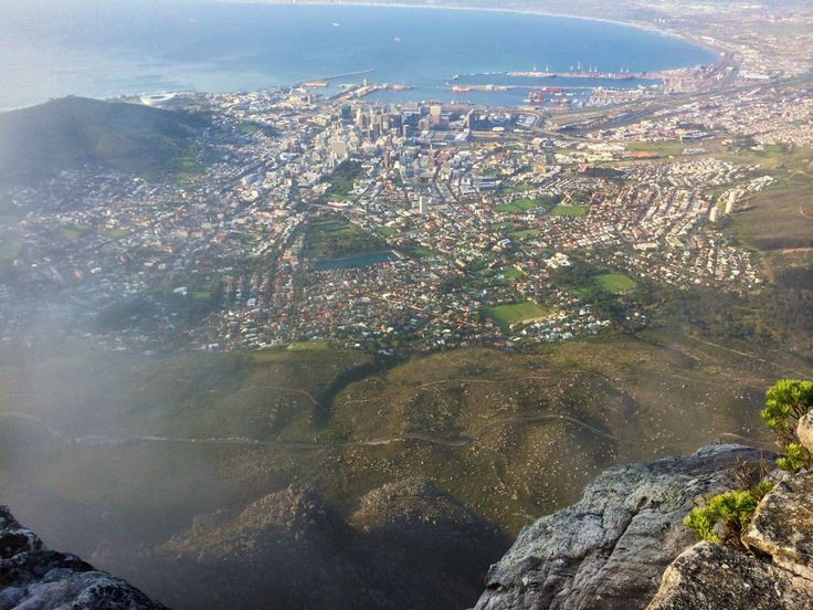 Cape Town from top of Table Mountain, South Africa.