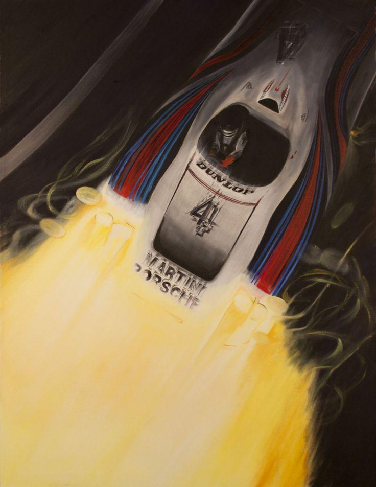 """Porsche 936"" Barth/Haywood/Ickx - Le Mans 1977 http://www.motorart27.com/project/porsche-936/  #porsche #lemans #hurleyhaywood #motorsport #art #oiloncanvas #jackyickx #jurgenbarth #imsa #ferrari #derekbell #lesarthe #24hours #sportscar #sportscarart #instaart #successartist #growyouraudience #carart #racingart #printsuk #carprints #PorscheArt #racing #martini #kunst #spiegel #derspiegel.de"