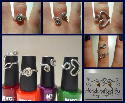 Handmade rings made with wire and pliers.  These look so nice and are surprisingly easy to make!!