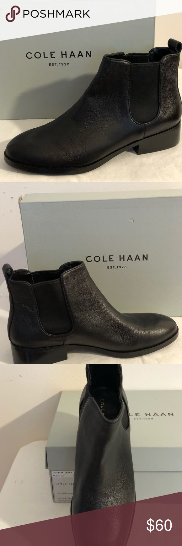 Cole Haan Leather Landsman Boot This chelsea style boot is a must have for every wardrobe! COLE HAAN a brand that is synonymous with quality footwear. These are brand new, in the box. They are offered at a price that won't put a dent in your wallet! Cole Haan Shoes Ankle Boots & Booties