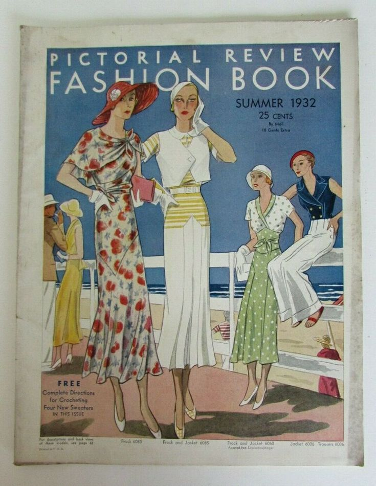 Summer 1932 Pictorial Review Fashion Book Quarterly Pattern Catalog