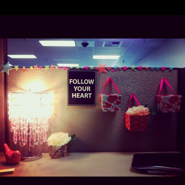 76 best cozy cubicle images on pinterest for Cool stuff for your cubicle