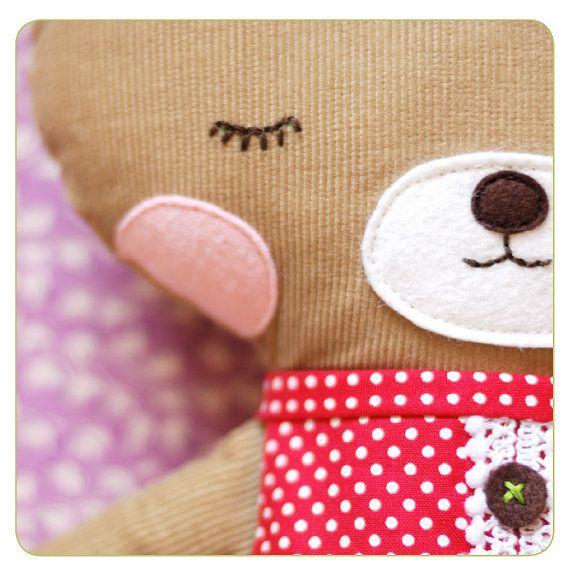 Bear Sewing Pattern PDF Sewing Pattern Ruthie Bear by retromama