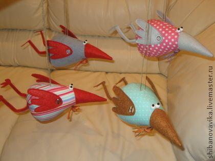 Вороны-истребители на люстру - игрушки животные,ручная работа,ворона,авторская игрушка