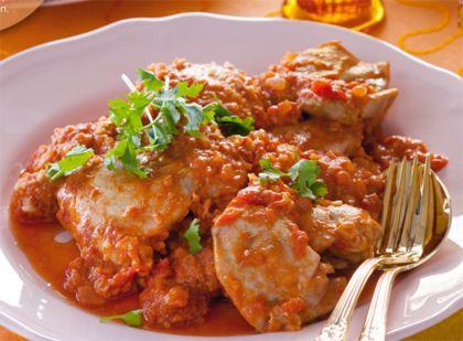 Recept voor kip in amandel-honingsaus