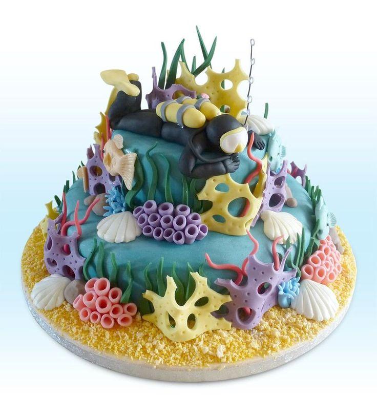 Scuba cake by KarenJerram.deviantart.com on @deviantART