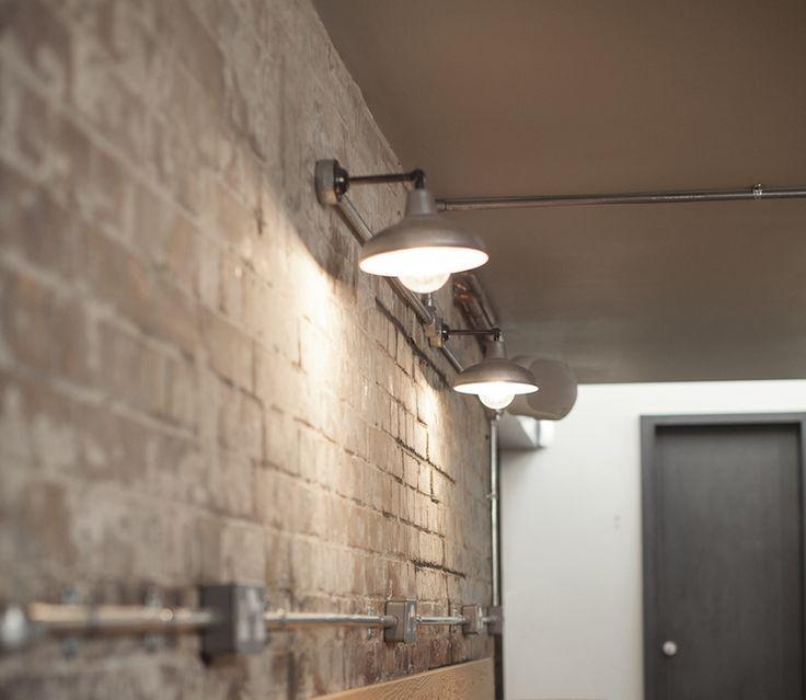 Simple cheap wall light exposed conduit