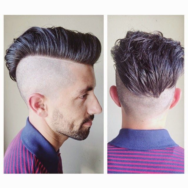 1000 Ideas About Men S Haircuts On Pinterest: Bald Fade Pompadour Hairstyle Ideas