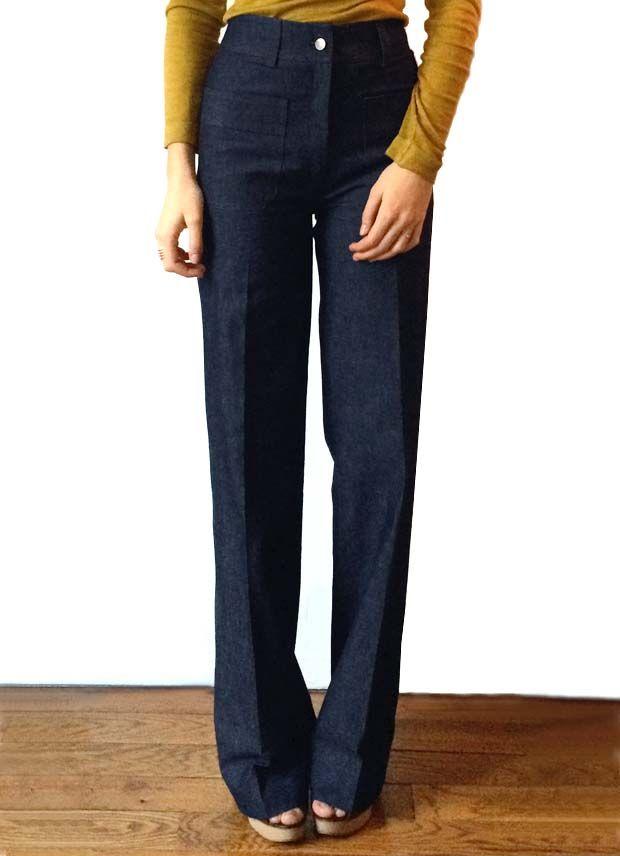 Nathalie Dumeix | Pantalon Jane denim bleu fonçé |