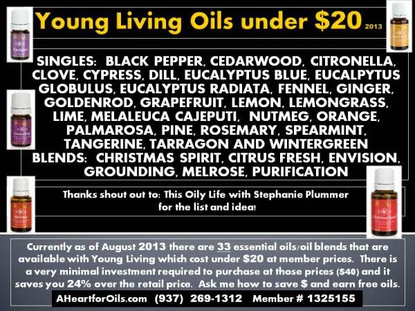 Young Living Oils under $20