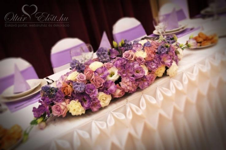 Menyasszonyi asztaldísz két részből álló főasztaldekoráció