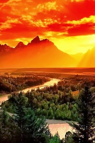 Grand Teton National Park, Wyoming.Nature, Sunsets, Teton National Parks, Beautiful Places, Sunris, Grand Teton National, Jackson Hole, Snakes Rivers, National Parks Wyoming