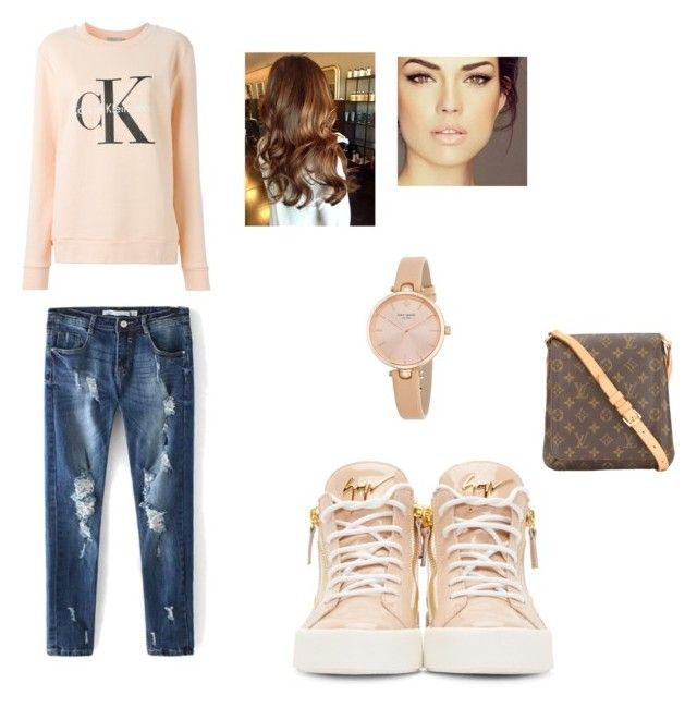 """""""everyday outfit"""" by stellast on Polyvore featuring Calvin Klein Jeans, Giuseppe Zanotti, Louis Vuitton and Kate Spade"""