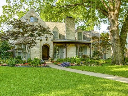 Terrific Tudor Style Homes in Dallas | Old World charm in this Tudor home with a great front porch at 3117 Greenbrier Drive in University Park.