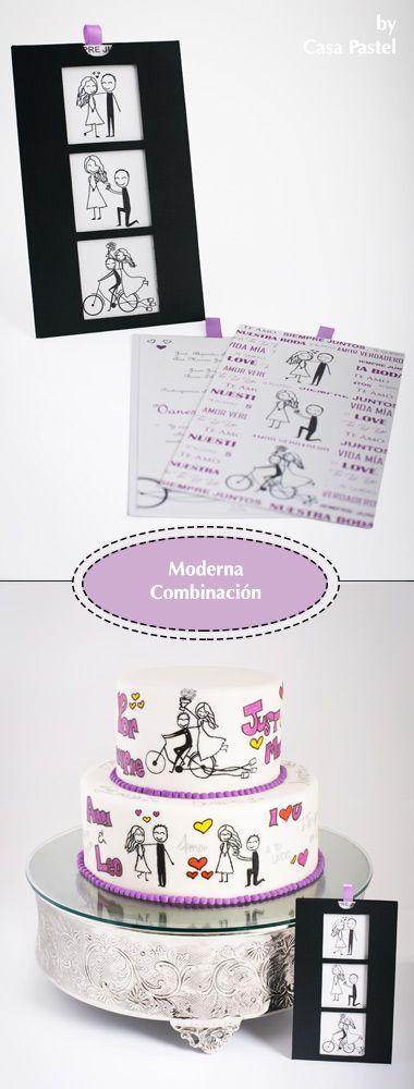 modern wedding invitations and cake ideas pasteles e modernas para boda guatemala