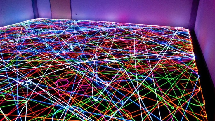 Long Exposure Photos of a Roomba's Path