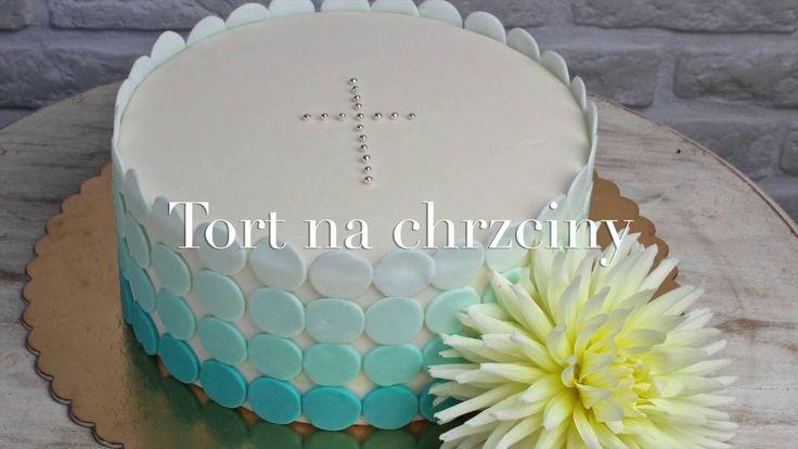 Orchideli - jak udekorować tort na chrzciny, prosta dekoracja tortu na chrzciny. Baptism cake, simple cake decoration.