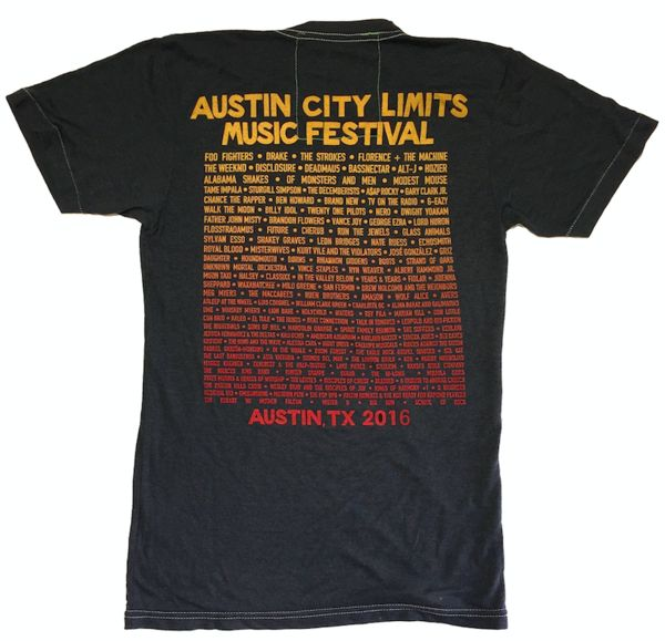ACL 2016 LINEUP TEE - CHARCOAL - Aviator Nation - 4