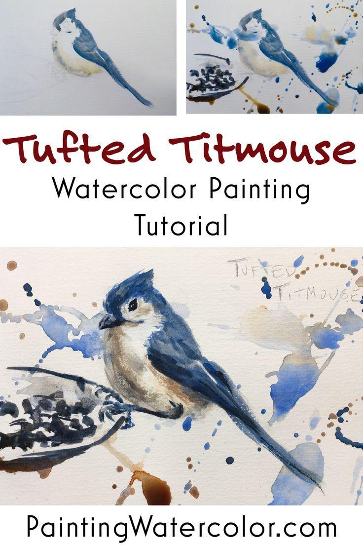 Backyard Bird Sketch Tufted Titmouse Watercolor Painting Tutorial