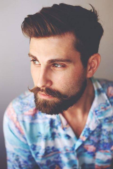 Beard man with vintage shirt