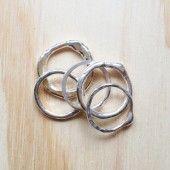 fine silver stack rings made to order.  elodie.com.au @elodiejewellery facebook.com/elodiejewellery