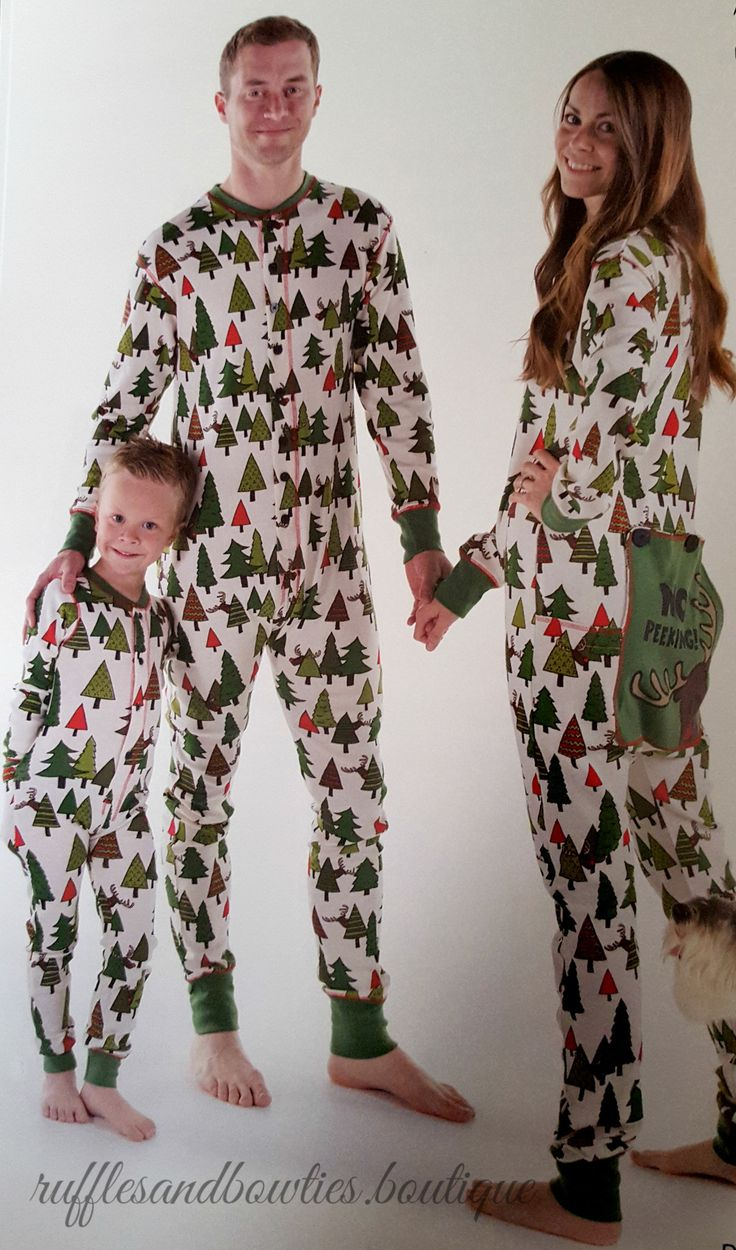 PRE ORDER - NEW THIS SEASON - NO PEEKING - Family Matching Flapjack Christmas Pj's