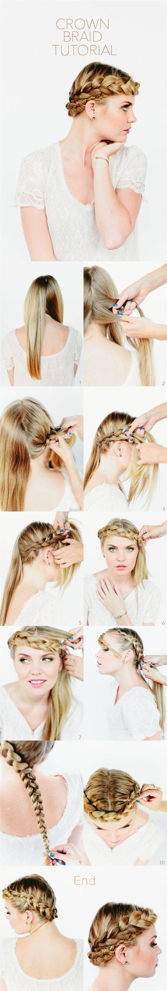 diy crown braids at home by clip in silky brown hair extensions