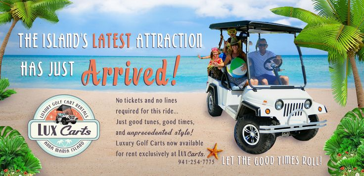 Ride in style with lux carts on annamariaisland