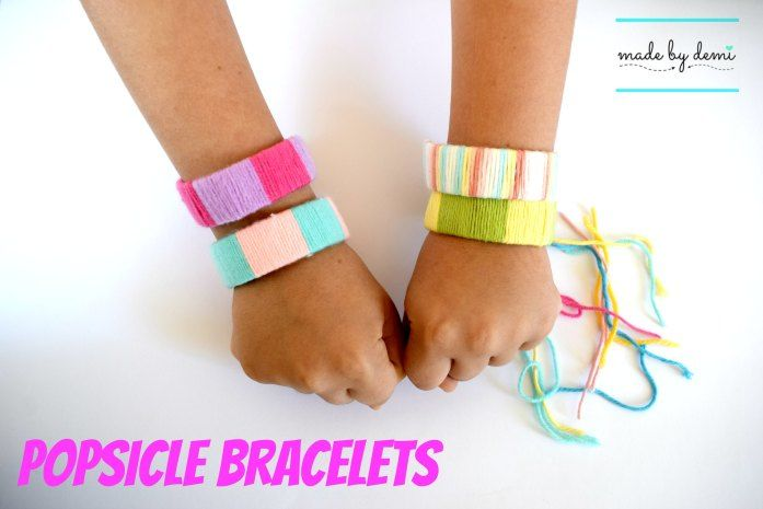 popsicle bracelets {using scrap yarn} | easy and fun project | made by demi
