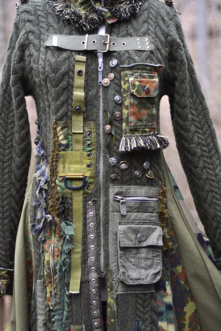 Steam punk sweater coat. Front pockets and belts. https://www.etsy.com/shop/amberstudios?ref=hdr_shop_menu&section_id=11938264