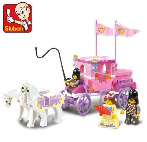 Кэндис го пластиковых игрушек строительный блок игры день рождения рождественский подарок сборки модели принцесса розовая мечта Royal carriage лошадь автомобиль