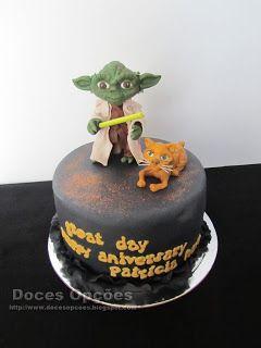 Doces Opções: O Yoda no aniversário da Patrícia