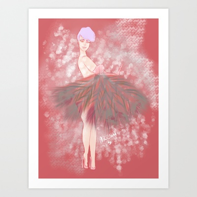 Who's That Ga-Girl! Art Print by musicgeekstress - $20.00