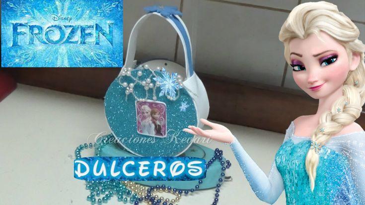 Dulcero o Bolso de CD de frozen (material reciclado)/ Frozen's Elsa Cand...