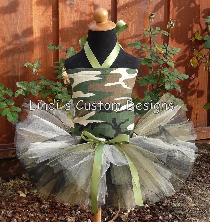 "Camouflage Tutu & Fabric Tie Tutu Tube Top up to 2T or 19"" Waist Army, Camo, Military, Huntsman. $60.00, via Etsy."
