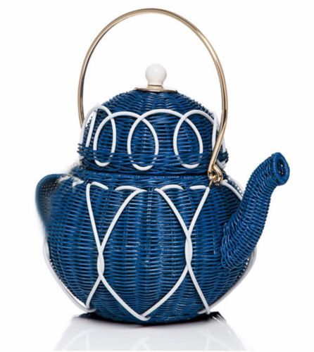 NEW-KATE-SPADE-Down-the-Rabbit-Hole-TEAPOT-Blue-Wicker-Tea-Party-Purse-Bag-NWT