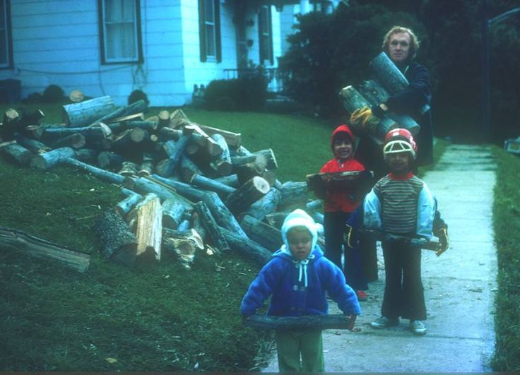 Firewood for Bellefonte House, 1980