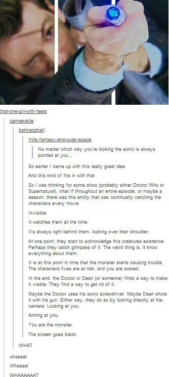 No.<----- that would be a really good show though..... I kinda like the idea<<<< how do we get moffat to notice this???