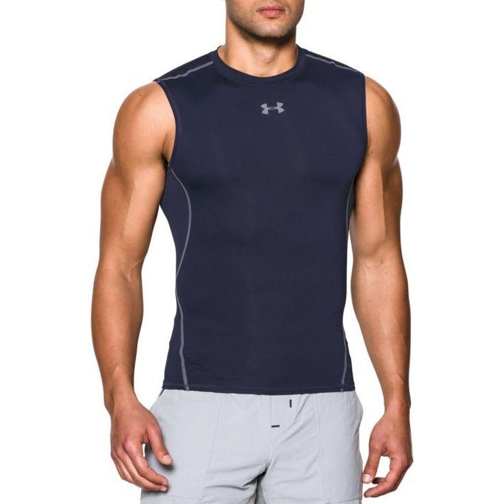 Under Armour Men's HeatGear Armour Sleeveless Shirt, Size: XXXL, Blue