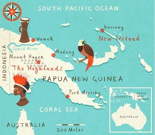 illustrated maps on Designspiration