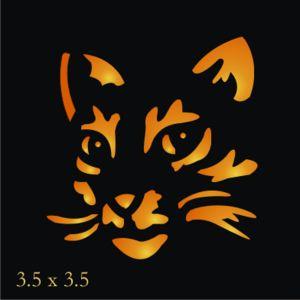TT47 Stencil topper Halloween Kitty  pumpkin orange cat for blocks witch signs