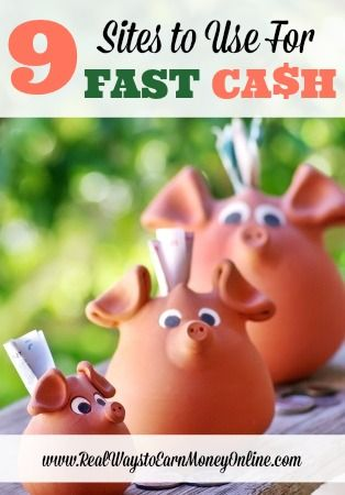 Do you need money today? If so, I'd highly recommend using some of the sites in this post for fast cash. If you use these regularly, they will come in handy when you need gas money, milk money, etc. Most of them pay within 24 to 72 hours after you request your money.