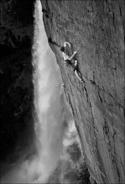 rock climbing anyone?  That looks awesome with a waterfall next to you...as long as the mist doesn't hit the rocks.