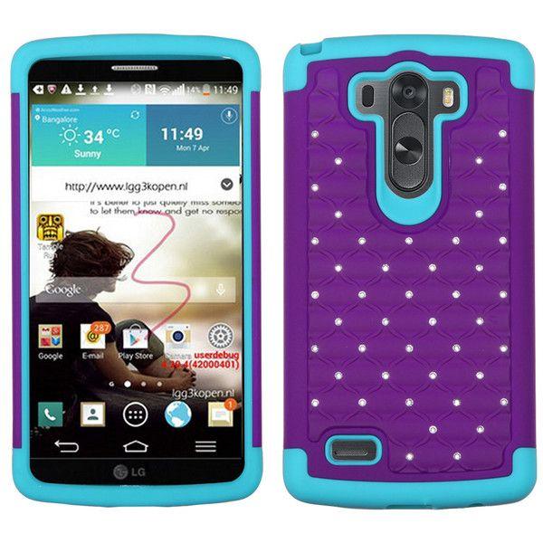 MYBAT LATTICE FULL-STAR DEFENDER CASE FOR LG G3 - PURPLE/TEAL #lgg3case, #g3case www.myphonecase.com