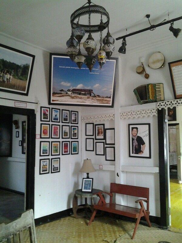 """The unique museum named """"Museum Kata Andrea Hirata"""" (the words museum of Andrea Hirata) in Manggar, Belitong Island, Indonesia."""