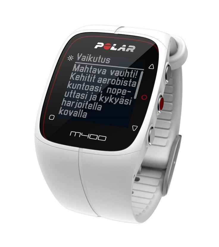 M400 HR -GPS-sykemittari, valkoinen - Sykemittarit ja urheilukellot - Urheilu Hobby Hall