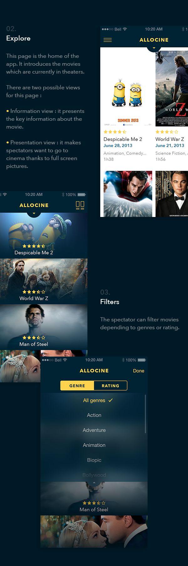 AlloCine App Concept on Behance