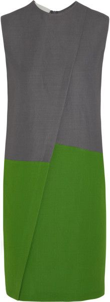 cedric charlier Colorblock Piqué Dress - Lyst