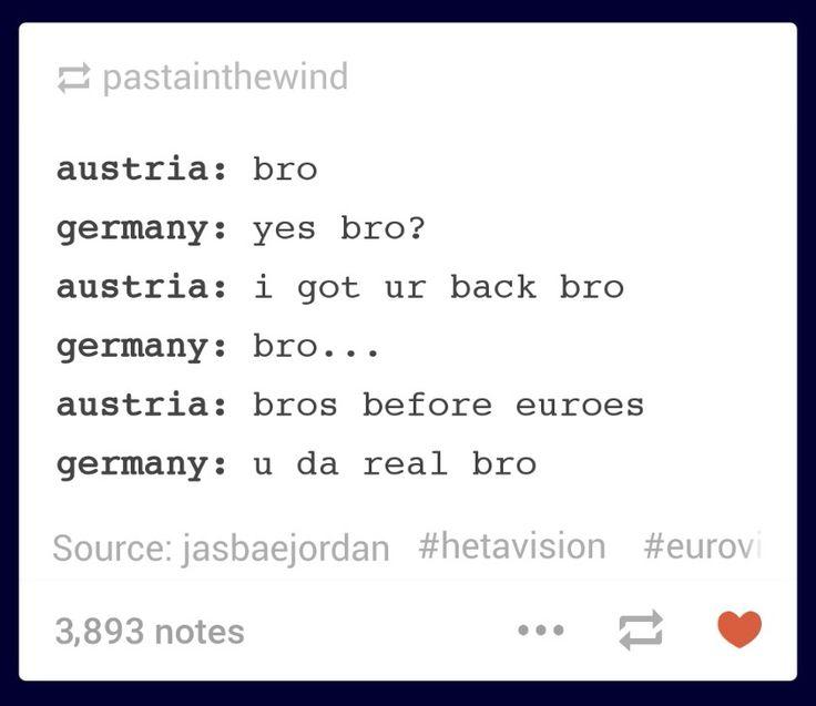 Hetalia Eurovision 2015 - Austria and Germany bros before euroes